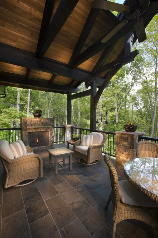 Covered Porch Addition Timberframe Horizons