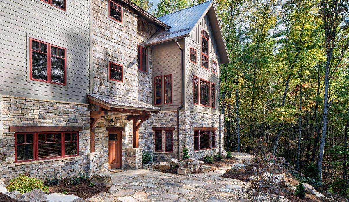 custom timber frame home asheville
