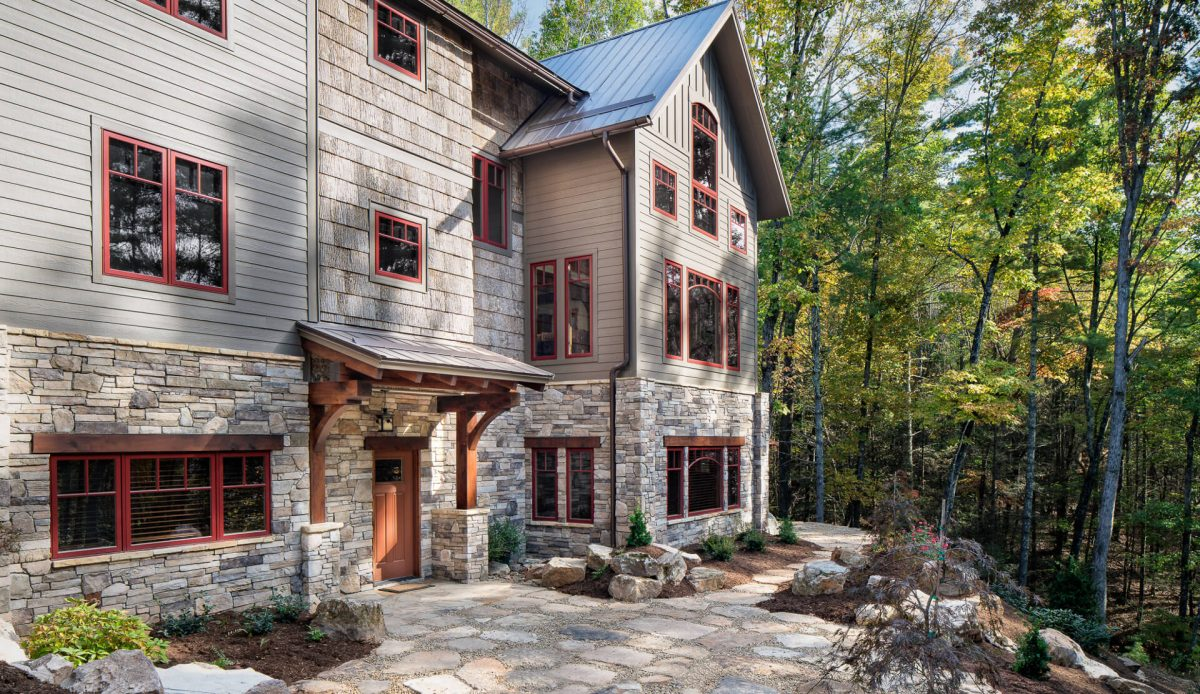custom timber frame home asheville